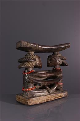 African art - Headrest Luba Shankadi
