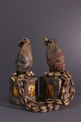 African art - Yoruba Ere Ibeji commemorative statuettes