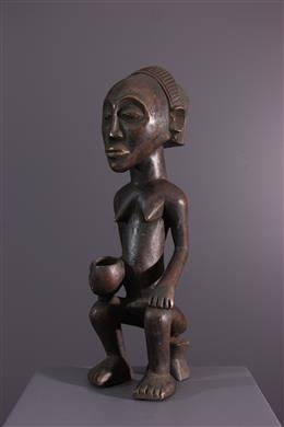 African art - Statuette Luba Mikisi