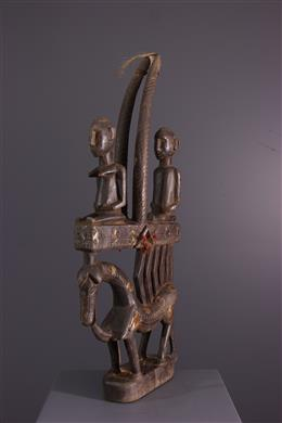 African art - Ci Wara Bamana Vertical Crest Mask