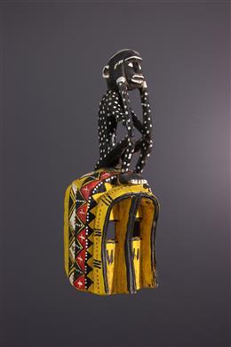 African art - Dogon polychrome monkey mask