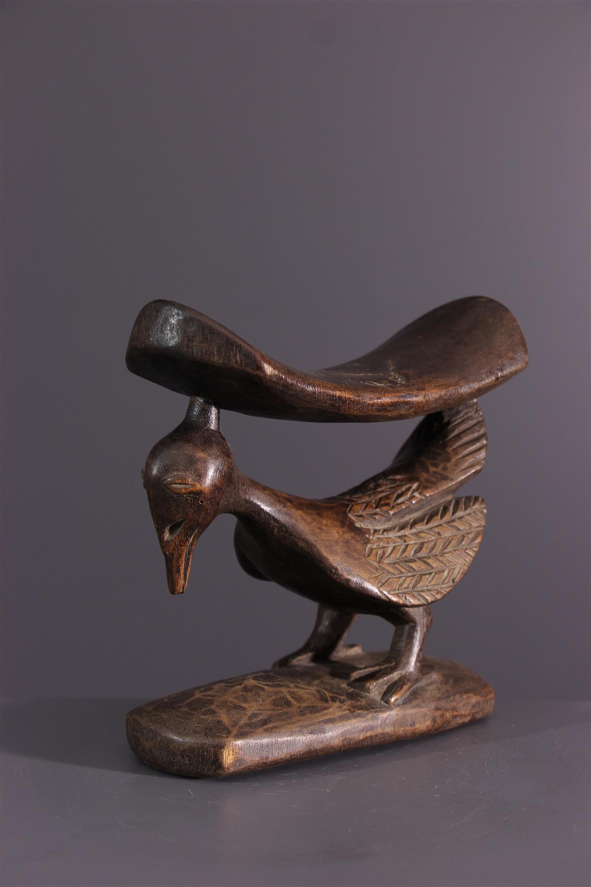 Yaka headrest - African art