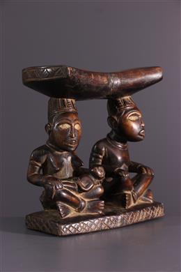 African art - Kongo headrest