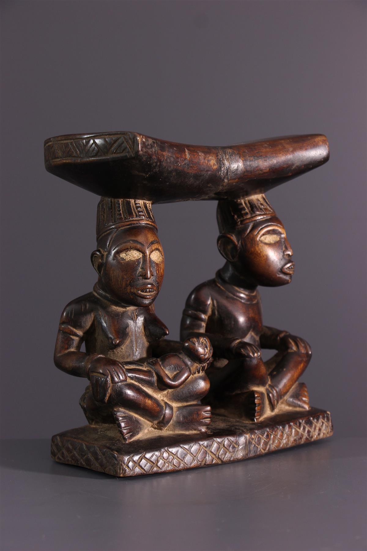 Kongo neck press - African art