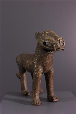 Bronze Benin leopard figure