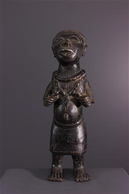 Bronze Benin dwarf figure