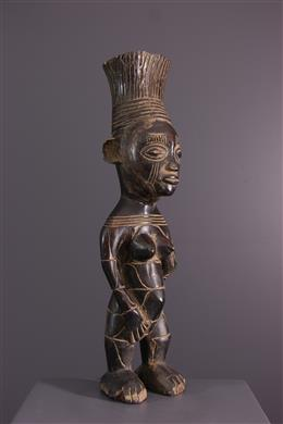 African art - Female figure Mangbetu Nebeli