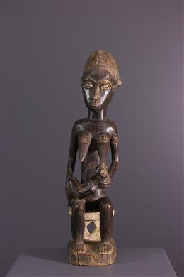 African art - Maternity Baule Blolo bia