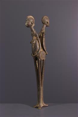 African art - Lobi sculpture in bronze