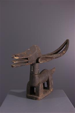 African art - Horizontal crest Ci wara Bamana