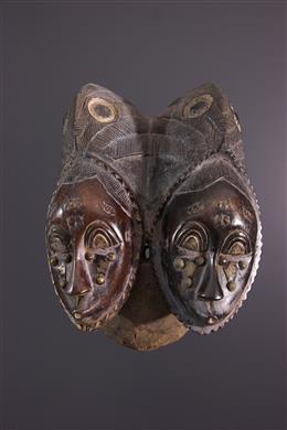 African art - Yohoure/Baoulé Twin Mask