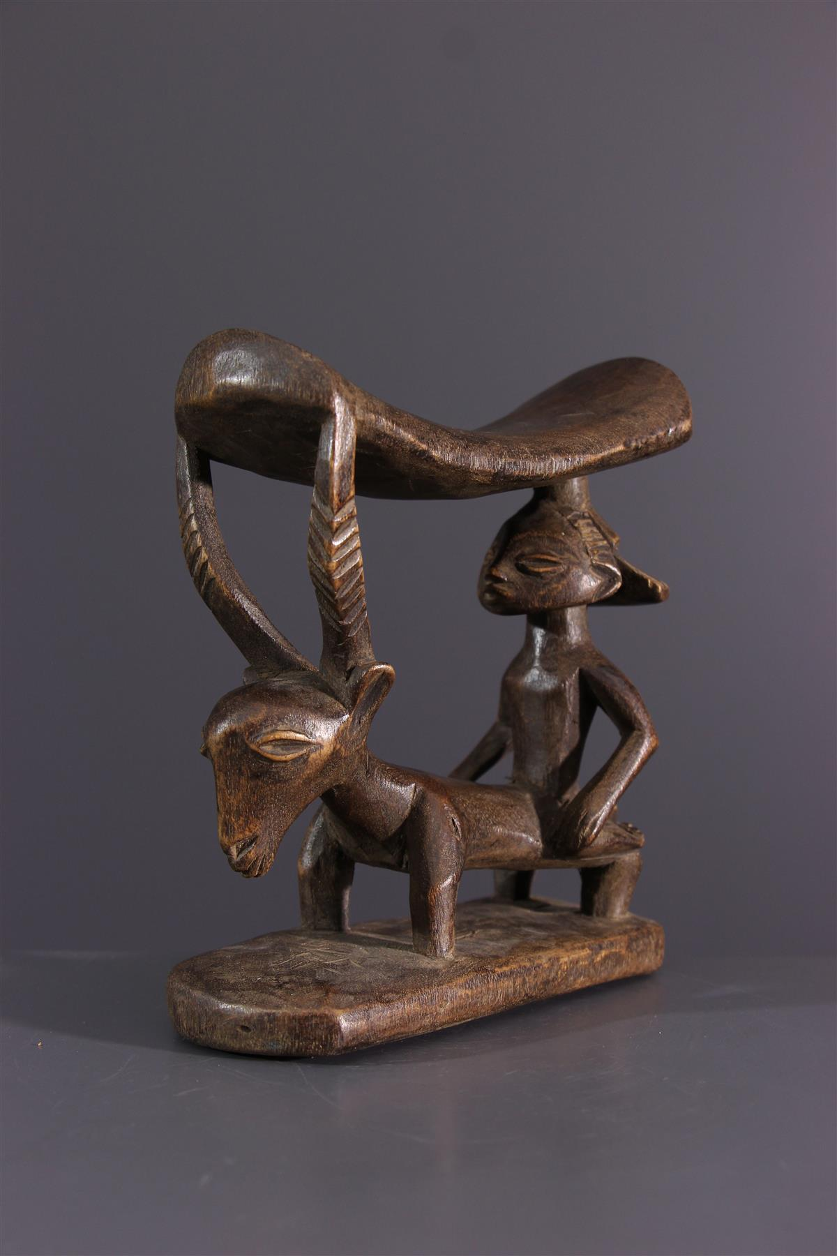 Luba neck support - African art