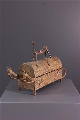African art - Bronze Dogon Box