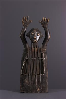 African art - Sanza anthropomorphe Zande