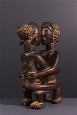 African art - Figure de couple Kanyok