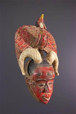 African art - Zaouli Dance Gouro Gu Mask