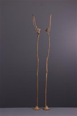 African art - Figure of the primordial couple Dogon in bronze