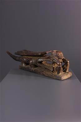 African art - Tabwa neck rest and pipe