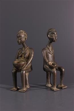 African art - Lobi figure in bronze