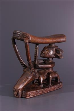 African art - Luba Shankadi Kinkondja neck rest