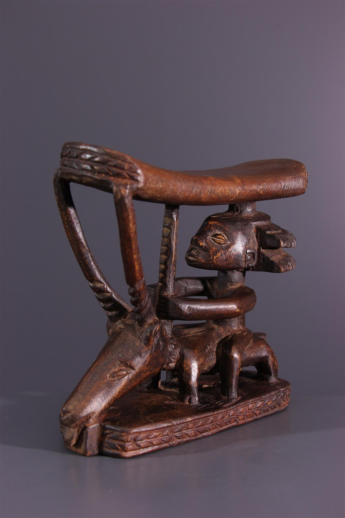 Luba neck rest - African art