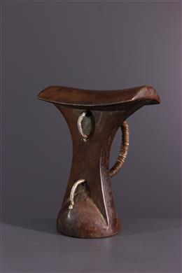 African art - Turkana handle headrest