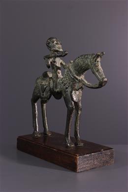 African art - Horseman Dogon in bronze
