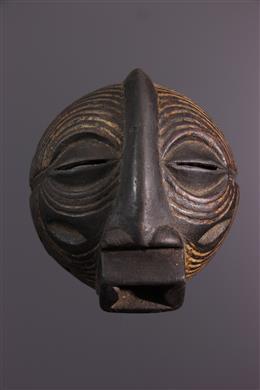 African art - Luba Kifwebe mask on plinth