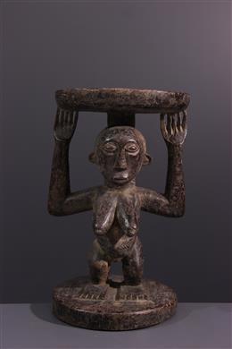 African art - Tabouret Luba/ Hemba Lupona, Kihona