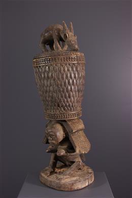 Luba Shankadi royal caryatid cup