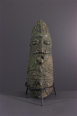 African art - Bronze bust Mambila