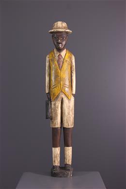 """African art - Figure of """"colon"""" African Baule, Baoulé"""