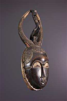 African art - Yaouré Mask,Yohouré, Lomane