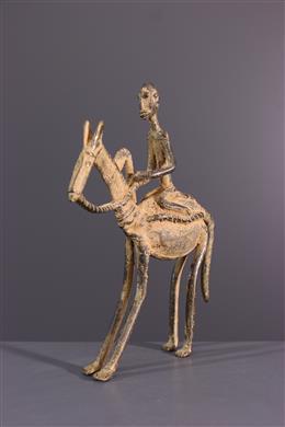 Dogon horseman statue in bronze