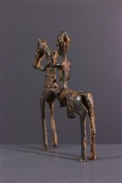 bronze africainDogon rider