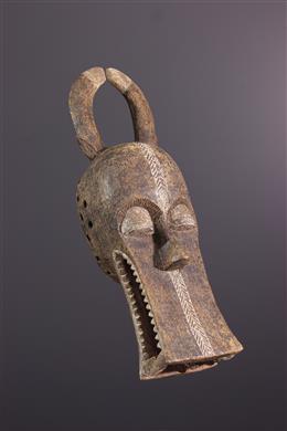 African art - Bonu Amwin Baule helmet mask