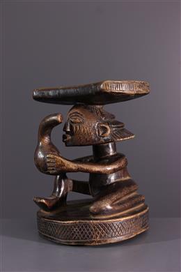 African art - Luba Shankadi headrest
