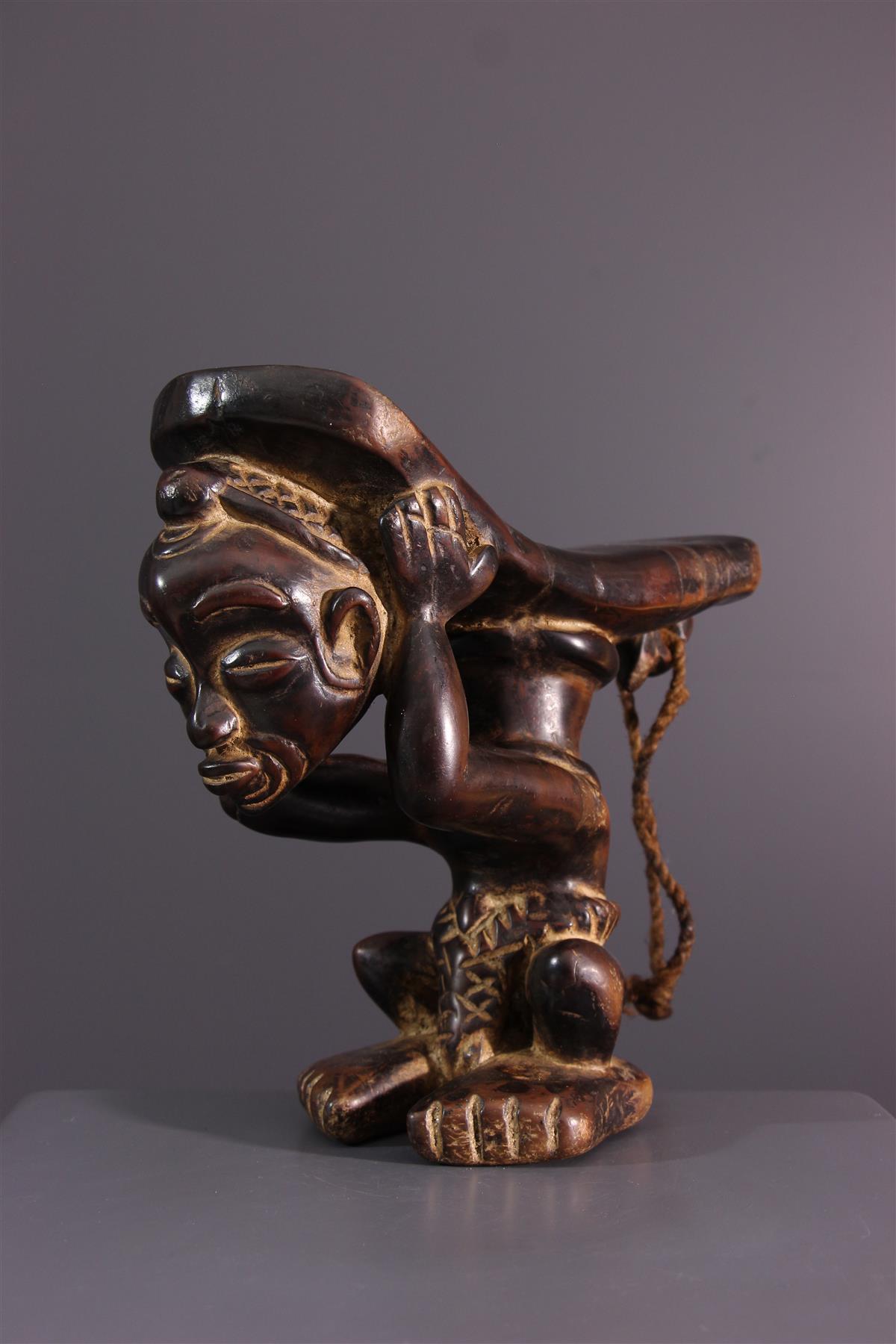 Lulua headrest - African art