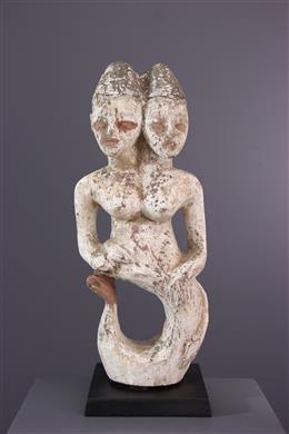 African art - Ritual sculpture Ewe mermaid of the waters