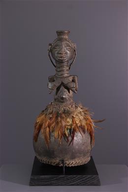 African art - Calabash with female motif Hemba / Luba