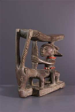 African art - Luba Shankadi neck support