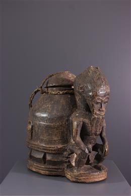 African art - Box of oracles Gbékré sé Baoulé