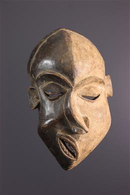 """African art - Large Pende Nsembu """"epileptic"""" mask"""