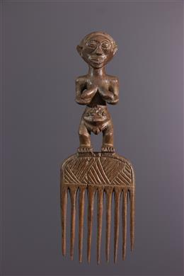 African art - Luba comb with female pattern