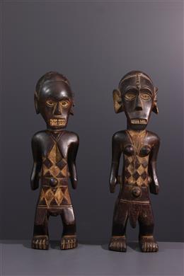 Couple of Ngbandi statues