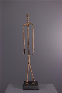 African art - Lobi figure in black iron