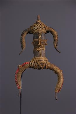 African art - Namji / Matakam fetish doll in bronze