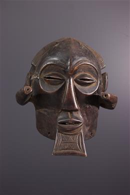 African art - Large helmet mask Luba Mukisi a kukaya
