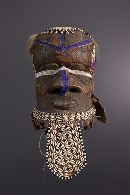 African art - Kuba/ Ngeende Bwoom helmet mask