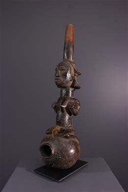 African art - Luba Pipe